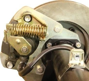 Adjusting rear brake caliper