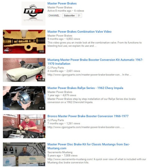 MP Brakes YouTube Channel