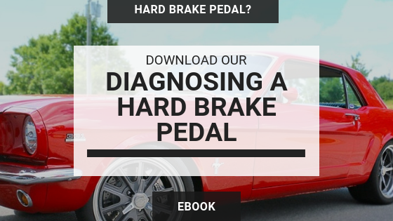 Diagnose a hard brake pedal